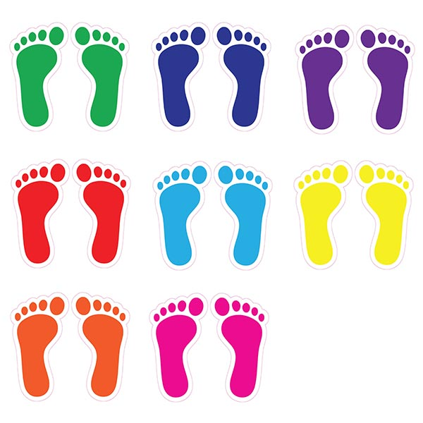 Foot Steps Sensory Stickers