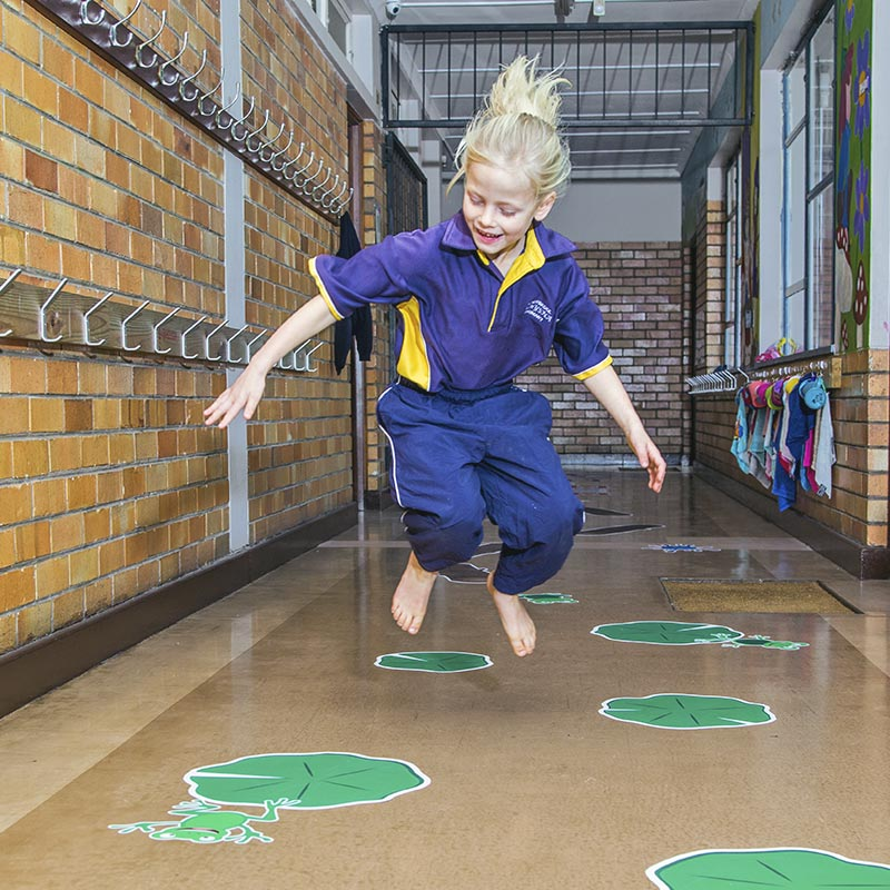 Sensory Pathway Floor Decals by Sensory Corridors